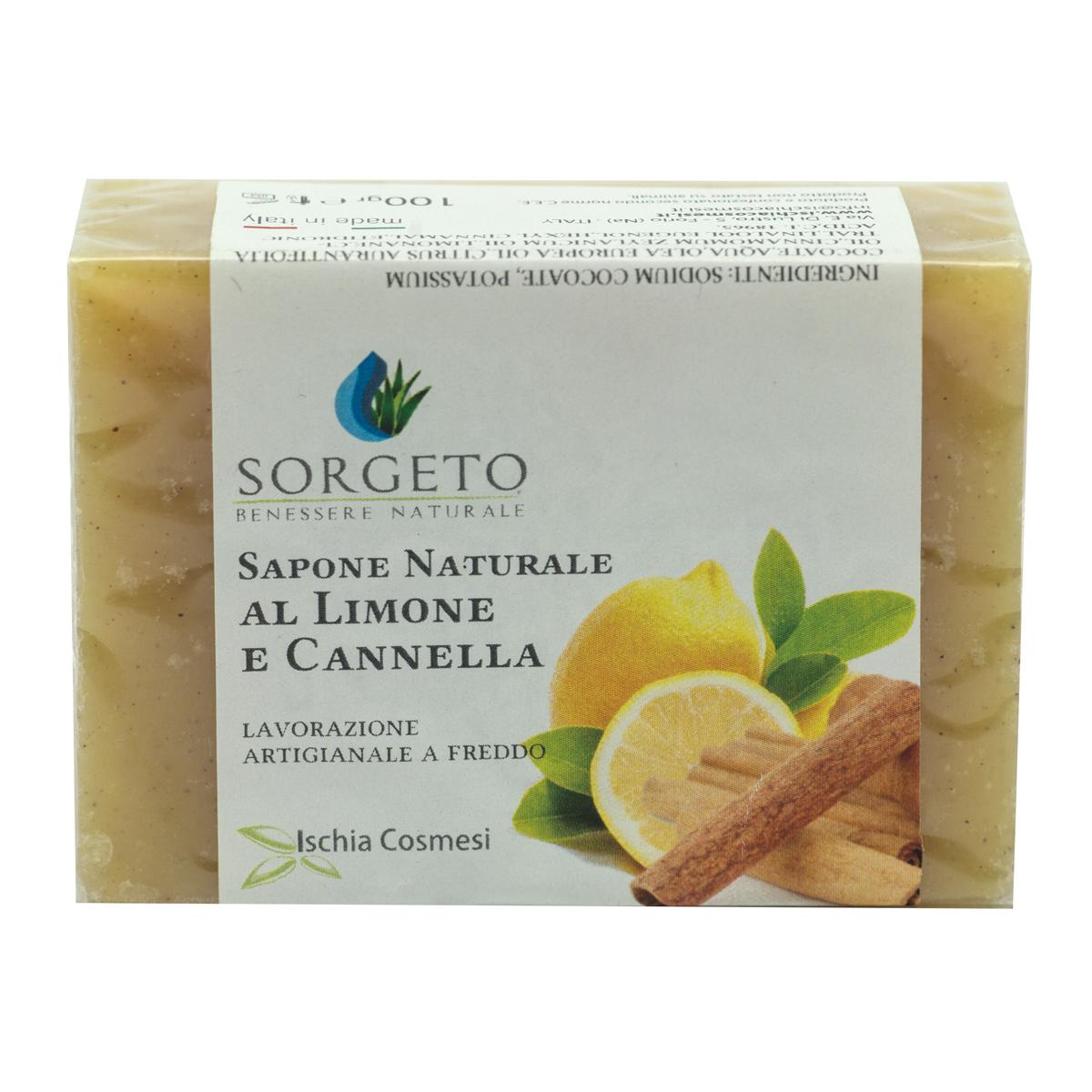 Sapone naturale limone e cannella gr 100