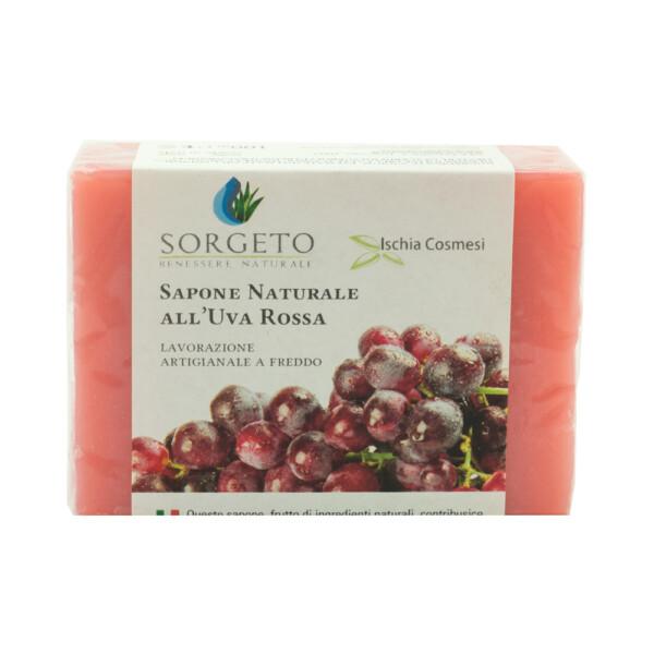 sapone naturale uva rossa
