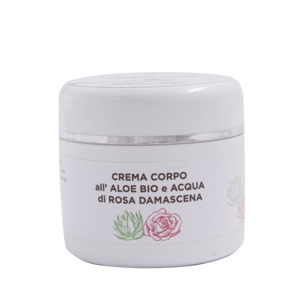Crema corpo Bio all'Aloe e Acqua di Rosa Damascena 150 ml