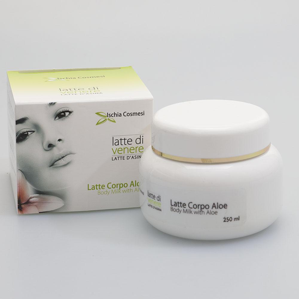 Crema corpo Idratante e lenitiva con Aloe Vera Biologica e latte d'Asina 250 ml
