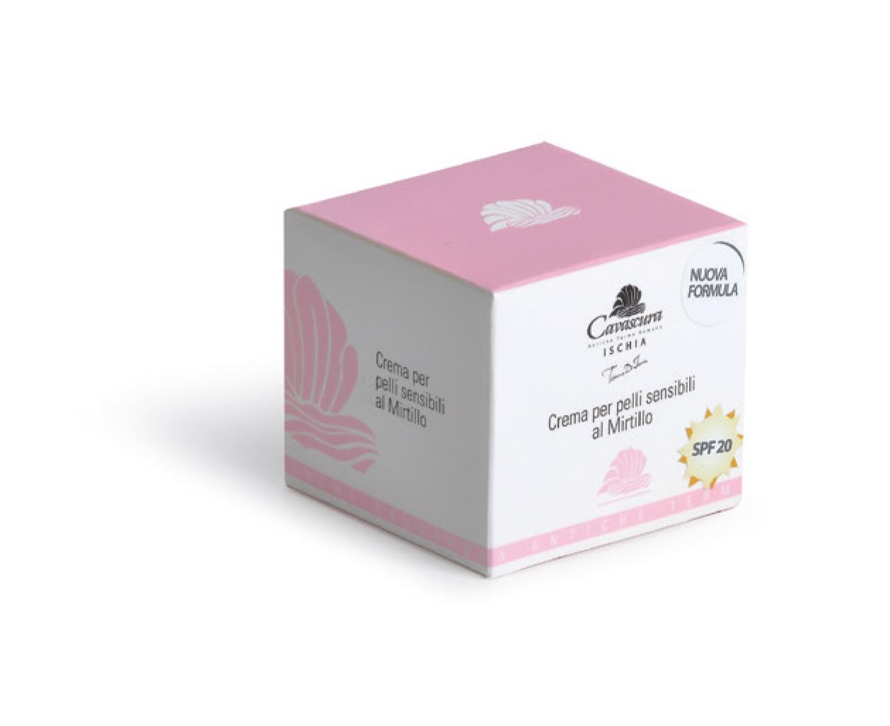 Crema mirtillo pelli sensibili