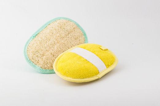 Ovale Loofah e Tessuto delicato
