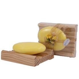 Sapone al Limone con portasapone in legno